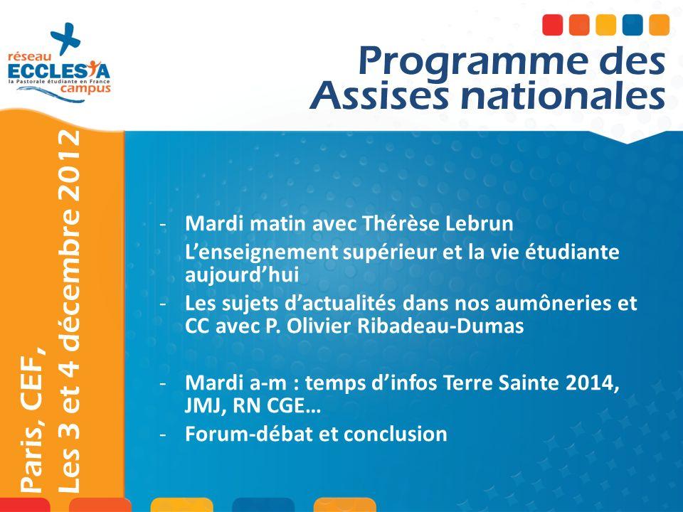 Paris, CEF, Les 3 et 4 décembre 2012