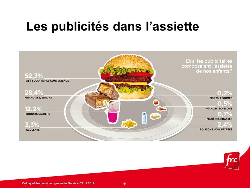 Les publicités dans l'assiette