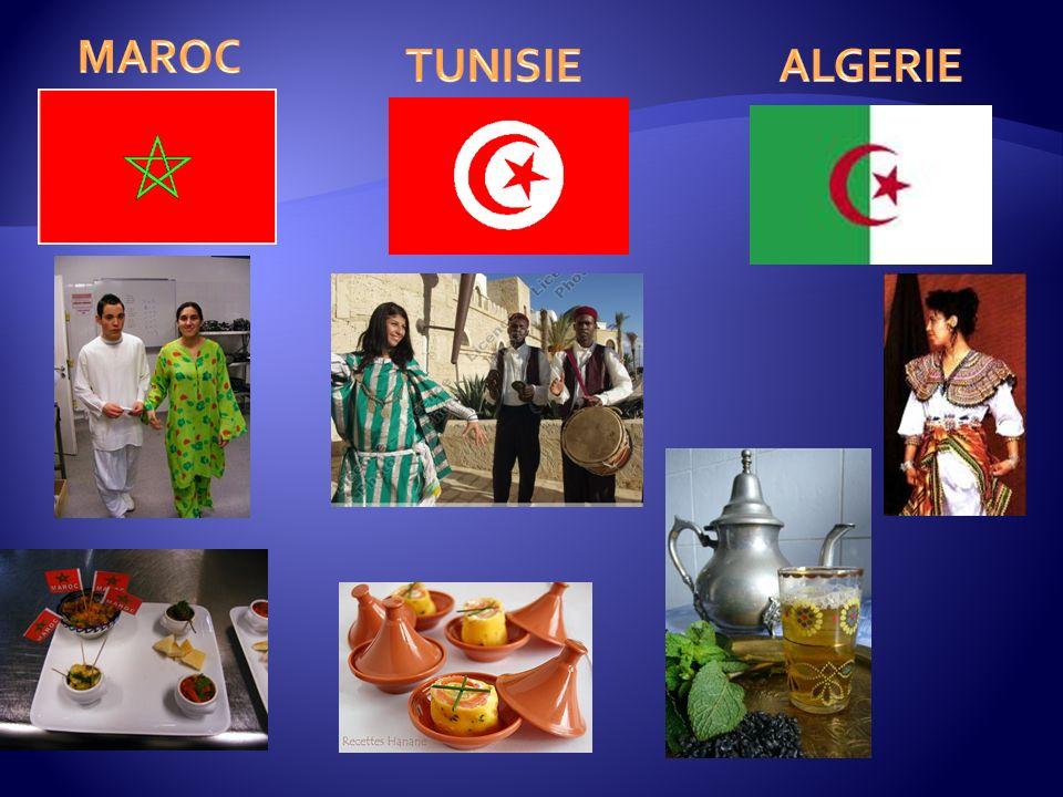 MAROC TUNISIE ALGERIE
