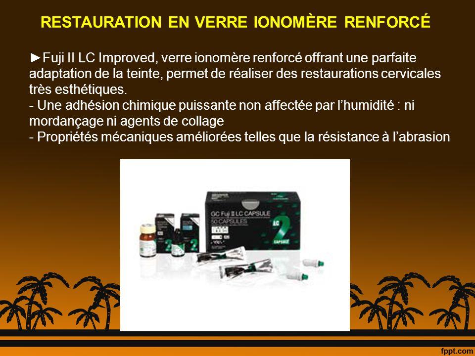 RESTAURATION EN VERRE IONOMÈRE RENFORCÉ