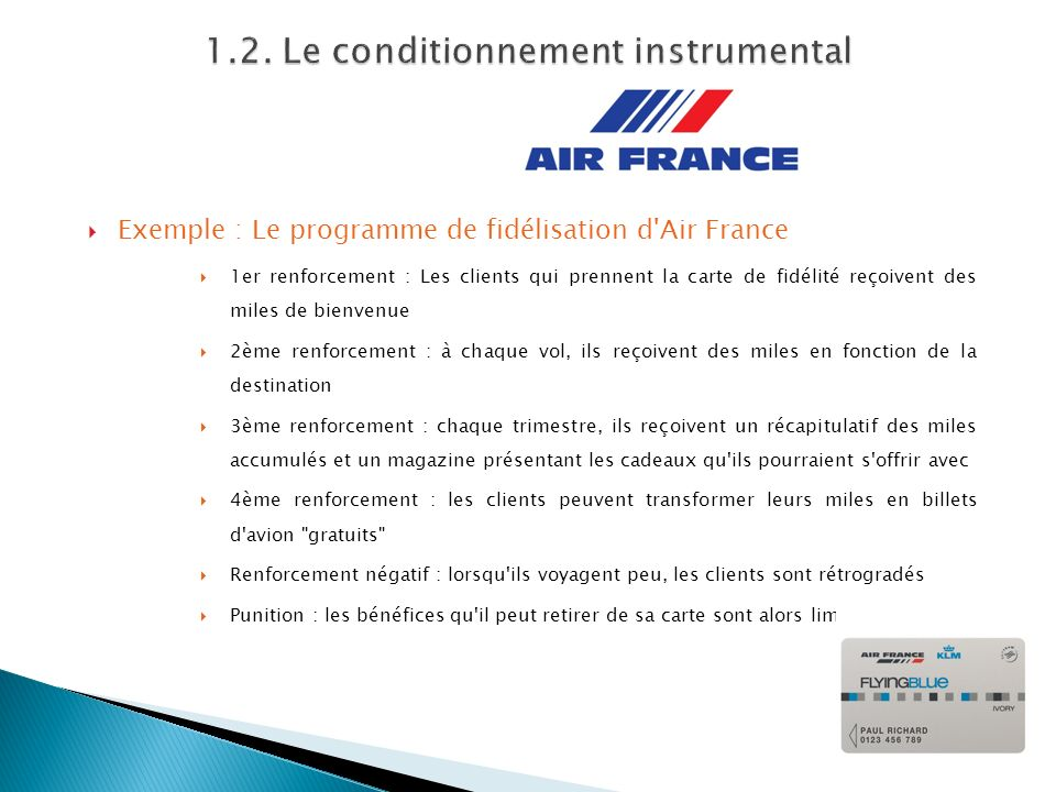 1.2. Le conditionnement instrumental