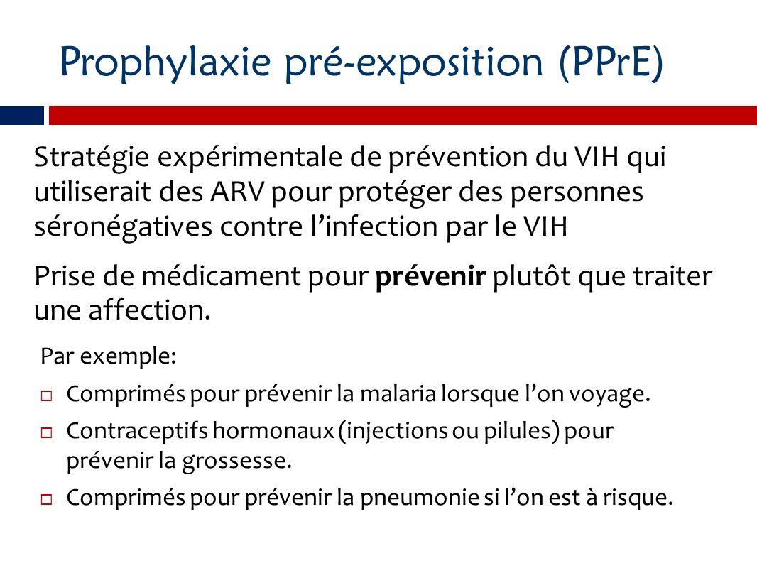 Prophylaxie pré-exposition (PPrE)