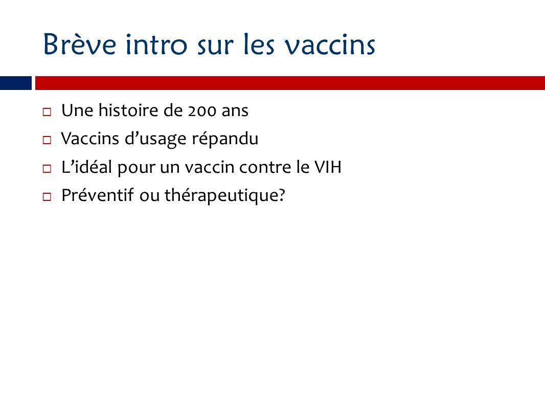 Brève intro sur les vaccins