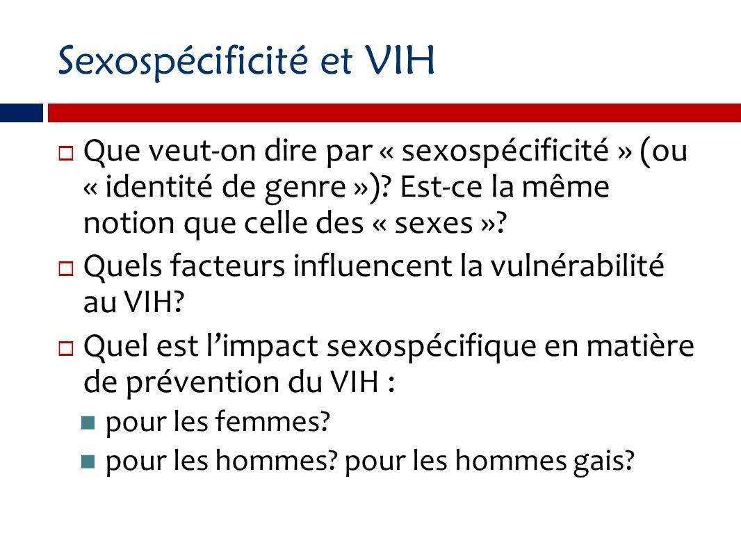 Sexospécificité et VIH