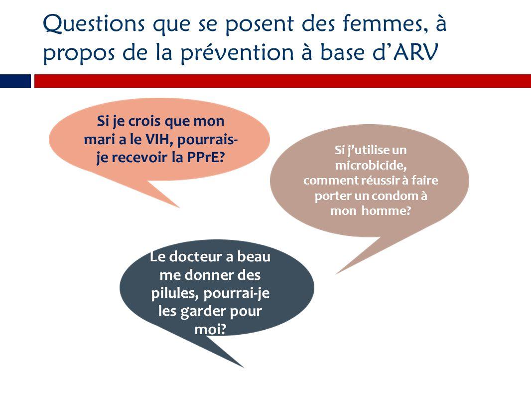 Si je crois que mon mari a le VIH, pourrais-je recevoir la PPrE