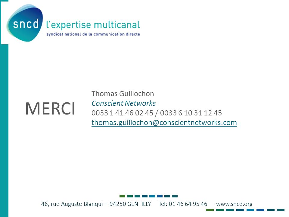 MERCI Thomas Guillochon Conscient Networks
