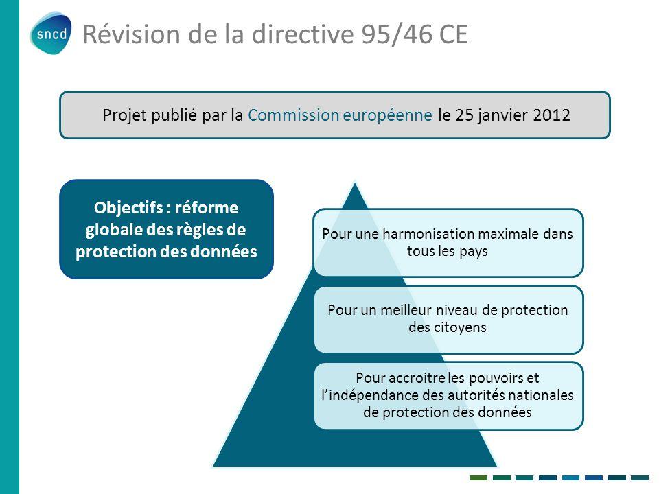 Révision de la directive 95/46 CE
