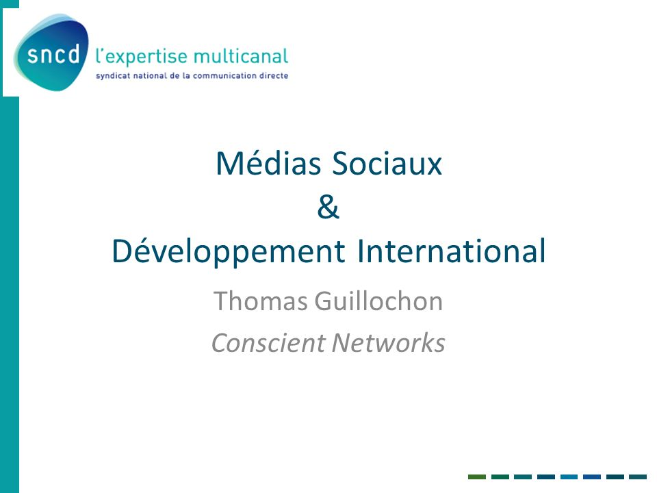 Médias Sociaux & Développement International