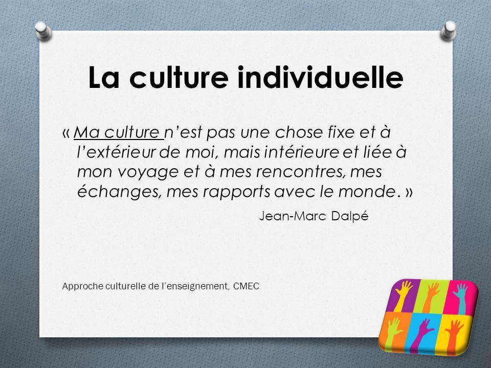 La culture individuelle