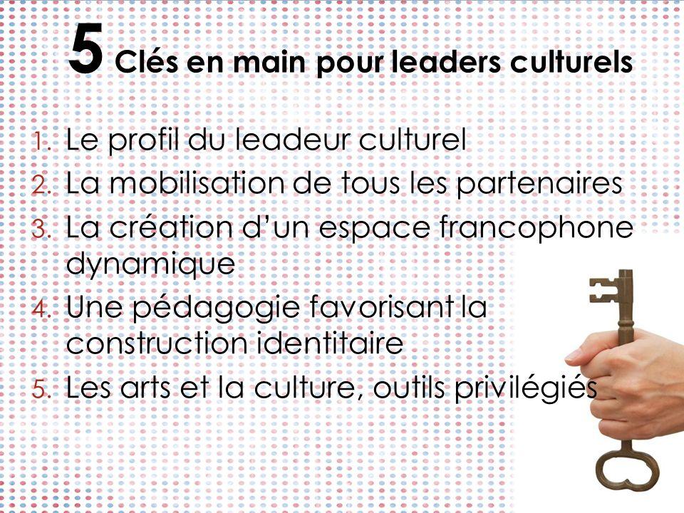 5 Clés en main pour leaders culturels