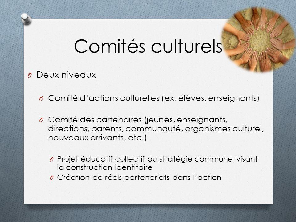 Comités culturels Deux niveaux