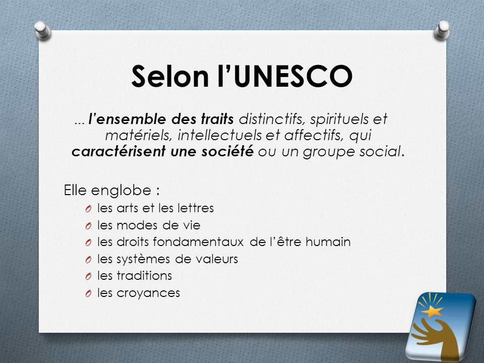 Selon l'UNESCO