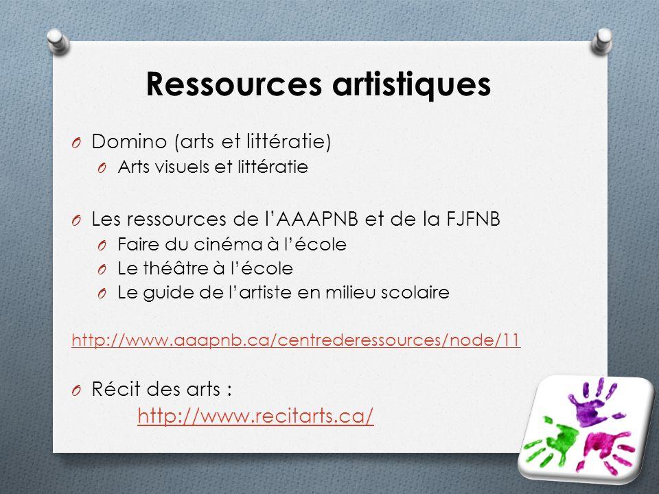 Ressources artistiques