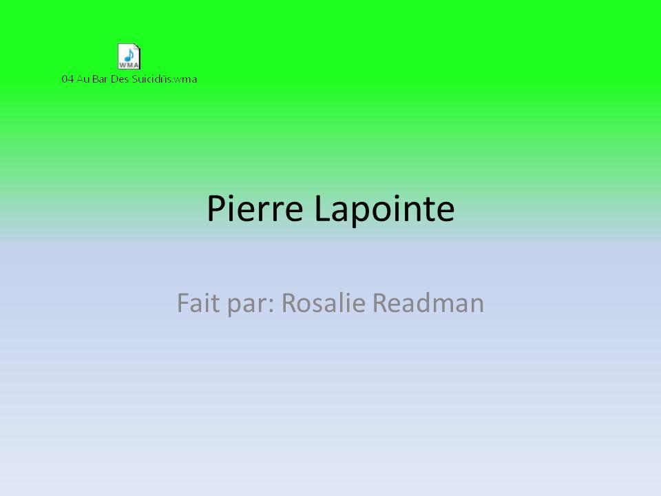 Fait par: Rosalie Readman