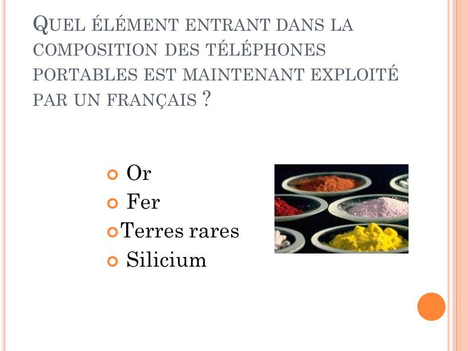 Quel élément entrant dans la composition des téléphones portables est maintenant exploité par un français