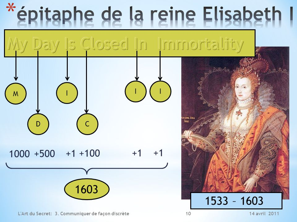 épitaphe de la reine Elisabeth I