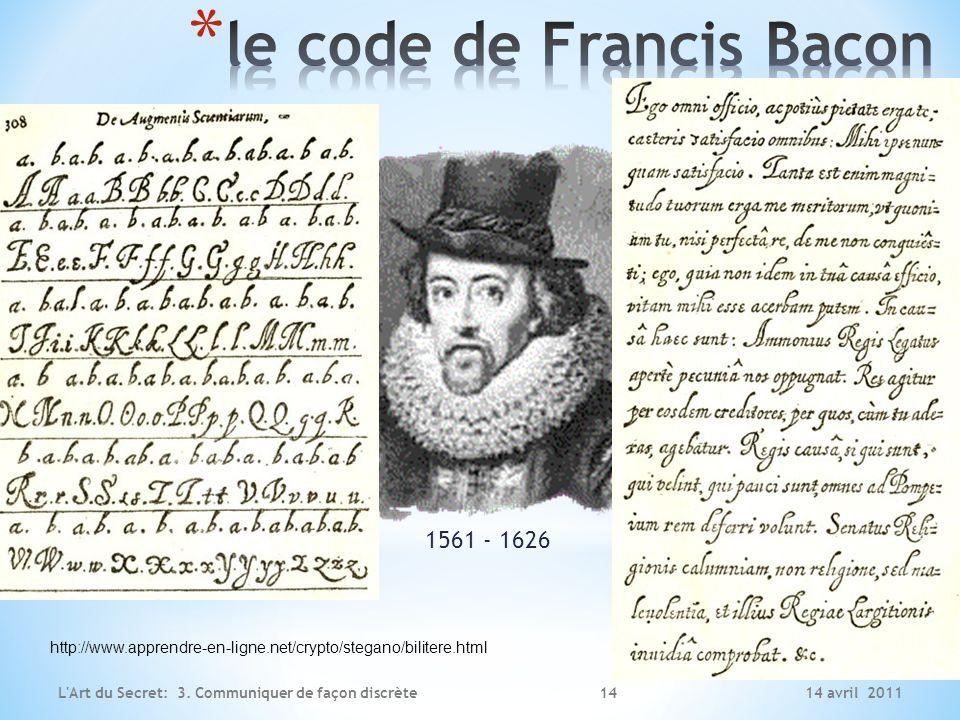 le code de Francis Bacon