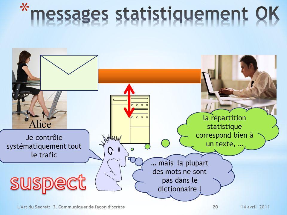 messages statistiquement OK
