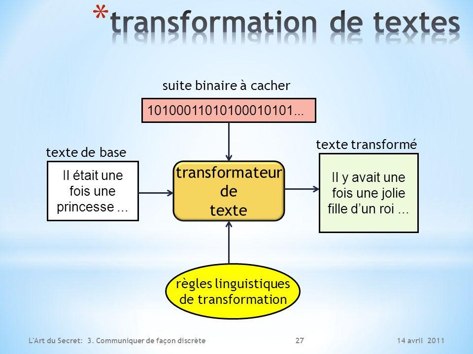 transformation de textes