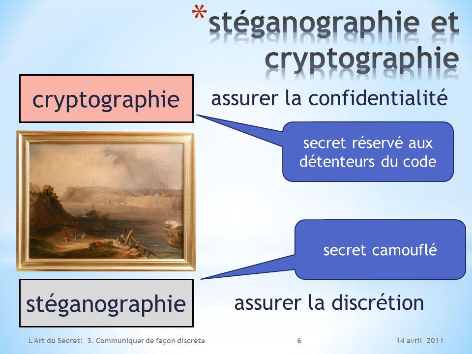 stéganographie et cryptographie
