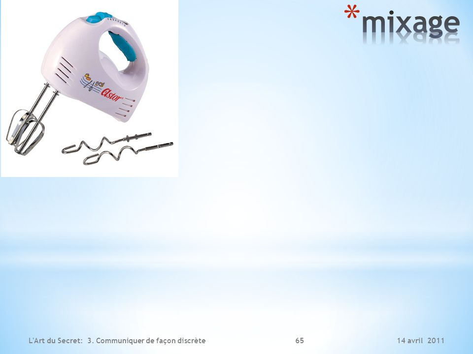 mixage L Art du Secret: 3. Communiquer de façon discrète 14 avril 2011