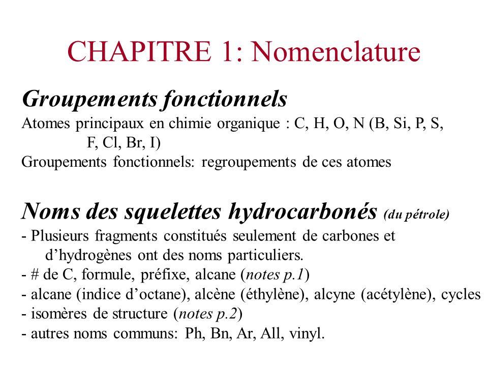 CHAPITRE 1: Nomenclature