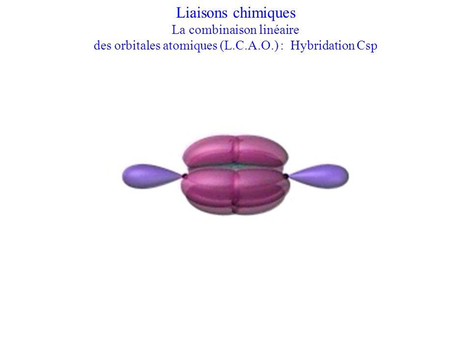 Liaisons chimiques La combinaison linéaire des orbitales atomiques (L.C.A.O.) : Hybridation Csp