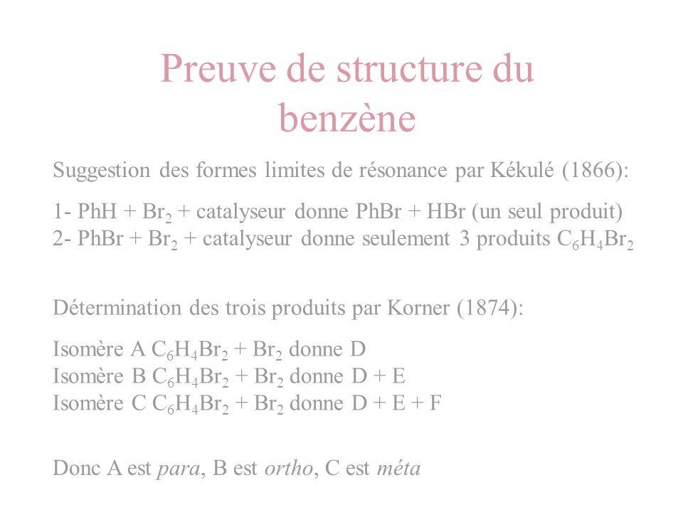 Preuve de structure du benzène