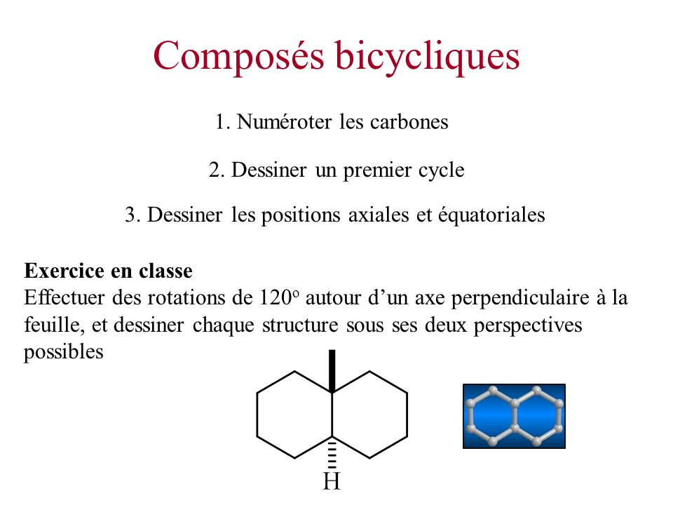 Composés bicycliques 1. Numéroter les carbones