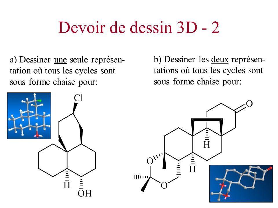 Devoir de dessin 3D - 2 a) Dessiner une seule représen-