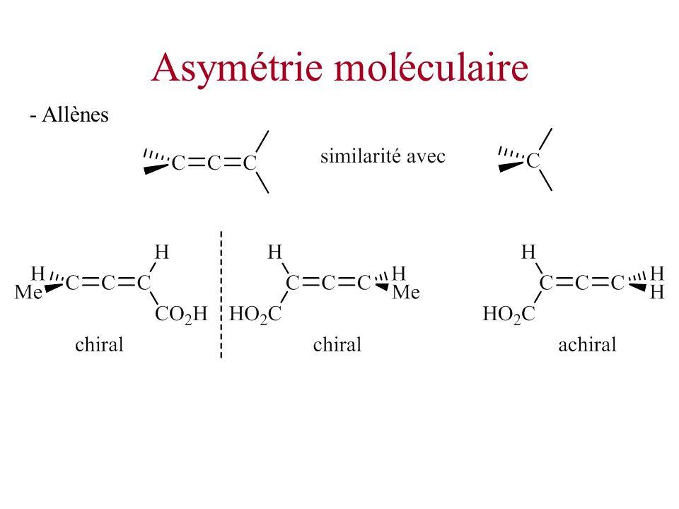 Asymétrie moléculaire