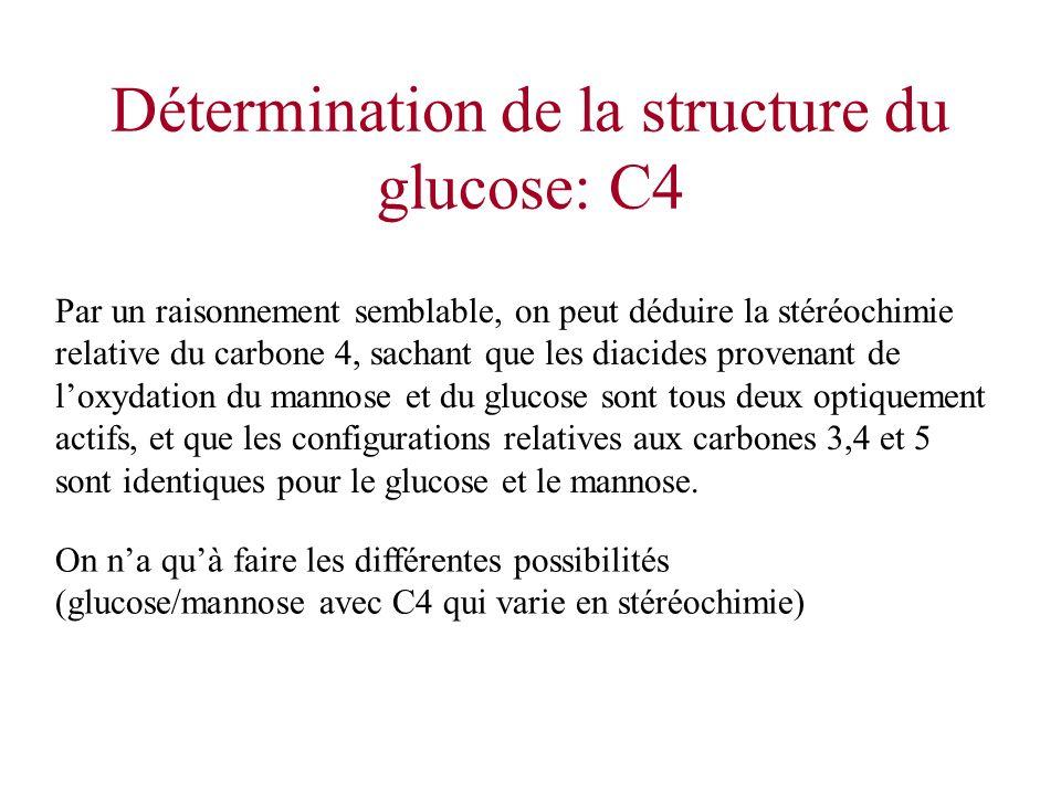 Détermination de la structure du glucose: C4