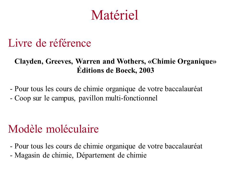 Matériel Livre de référence Modèle moléculaire