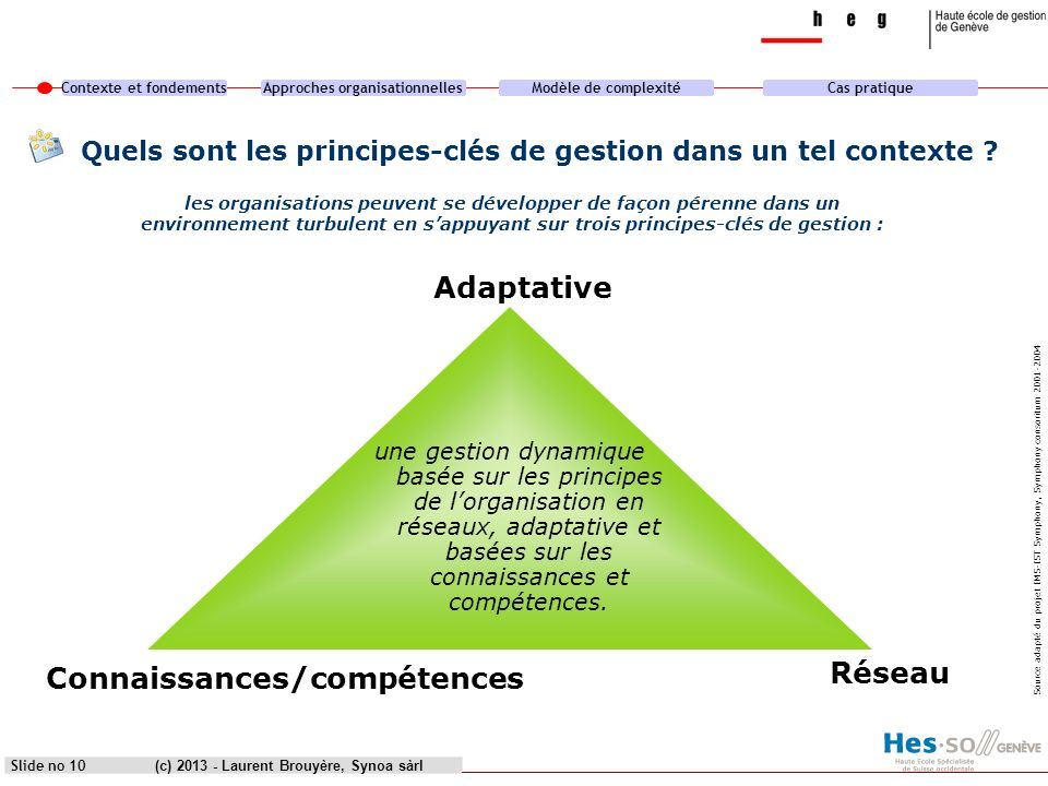 Quels sont les principes-clés de gestion dans un tel contexte