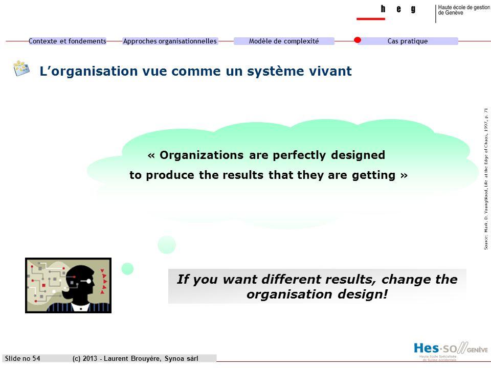 L'organisation vue comme un système vivant