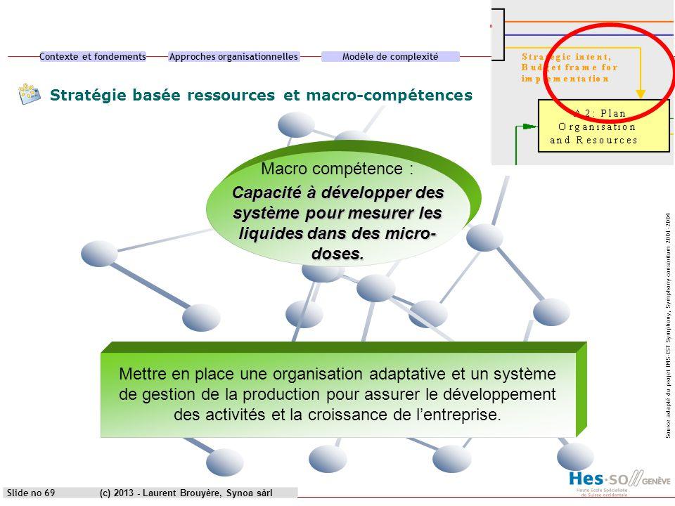 Stratégie basée ressources et macro-compétences