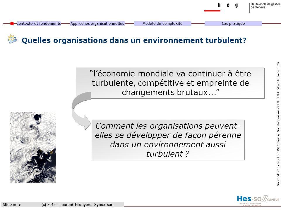 Quelles organisations dans un environnement turbulent