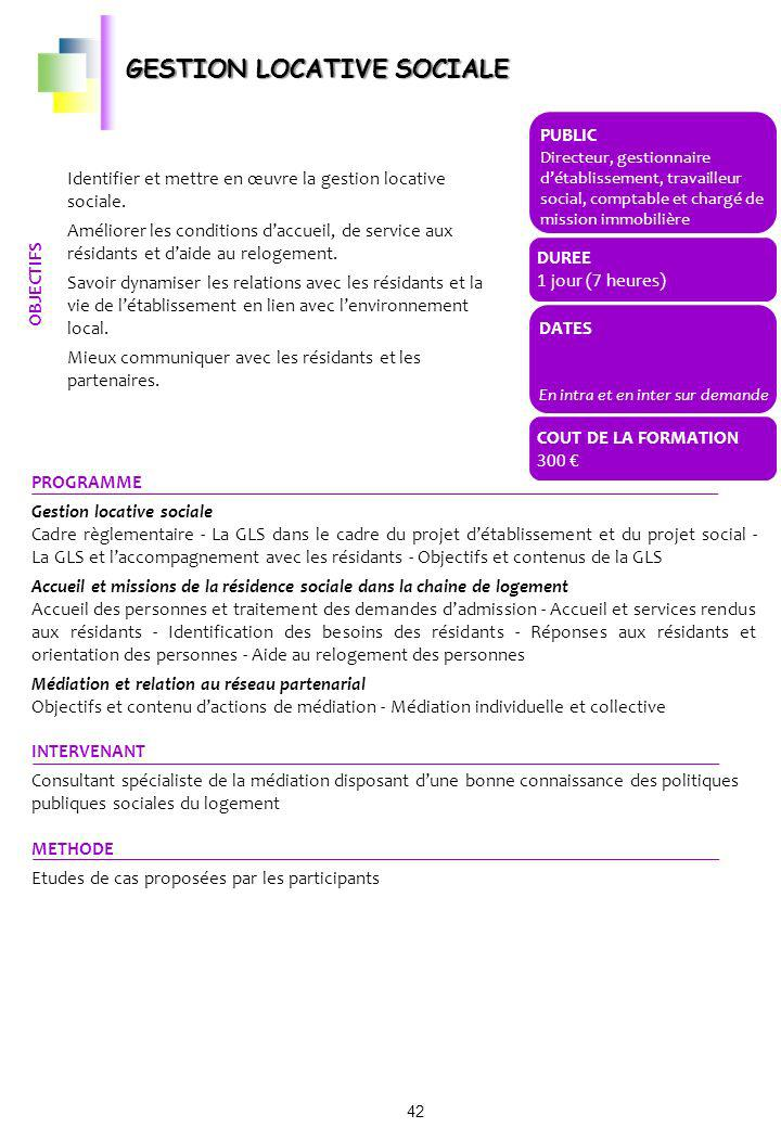GESTION LOCATIVE SOCIALE