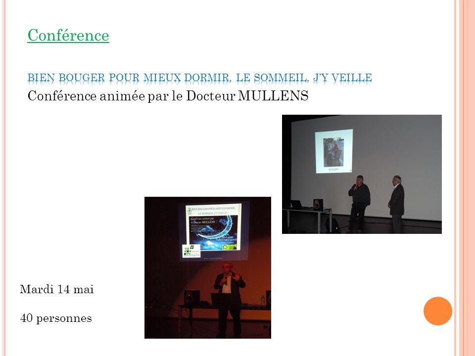 Conférence Conférence animée par le Docteur MULLENS Mardi 14 mai