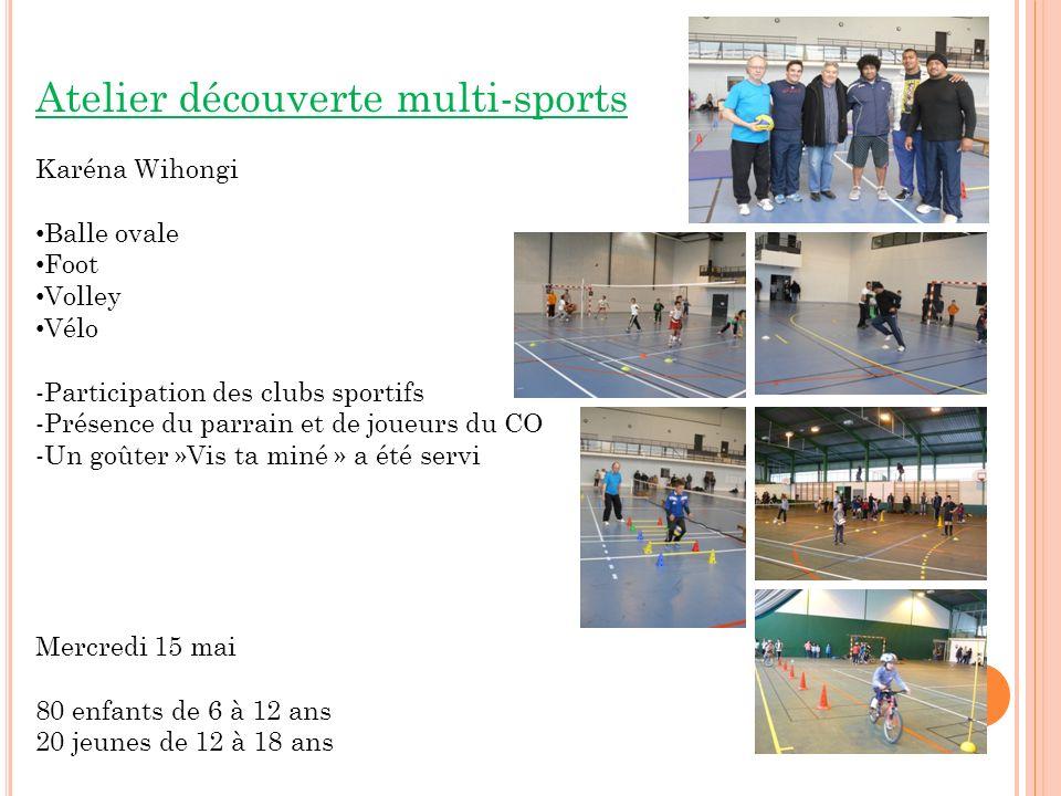 Atelier découverte multi-sports