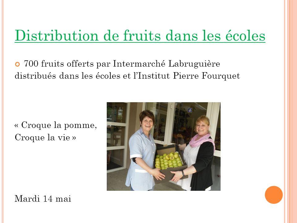 Distribution de fruits dans les écoles
