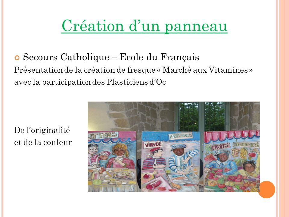 Création d'un panneau Secours Catholique – Ecole du Français