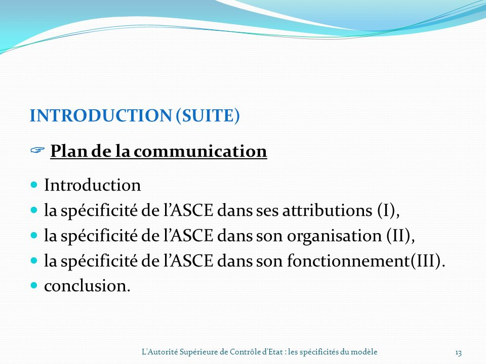  Plan de la communication Introduction