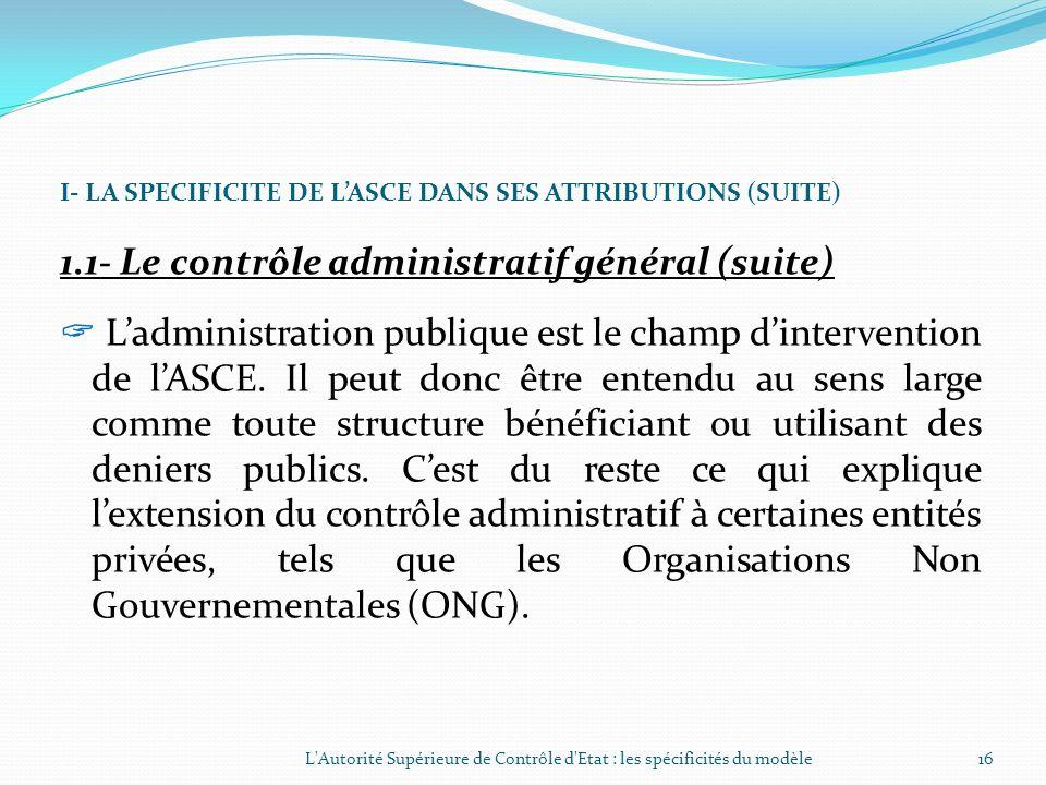 1.1- Le contrôle administratif général (suite)