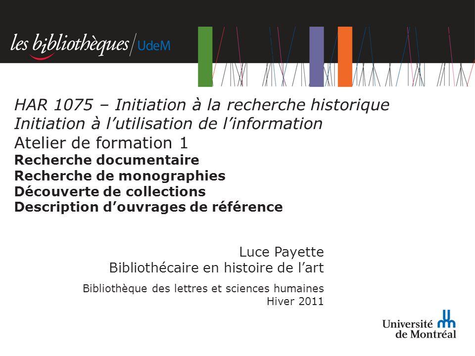 HAR 1075 – Initiation à la recherche historique