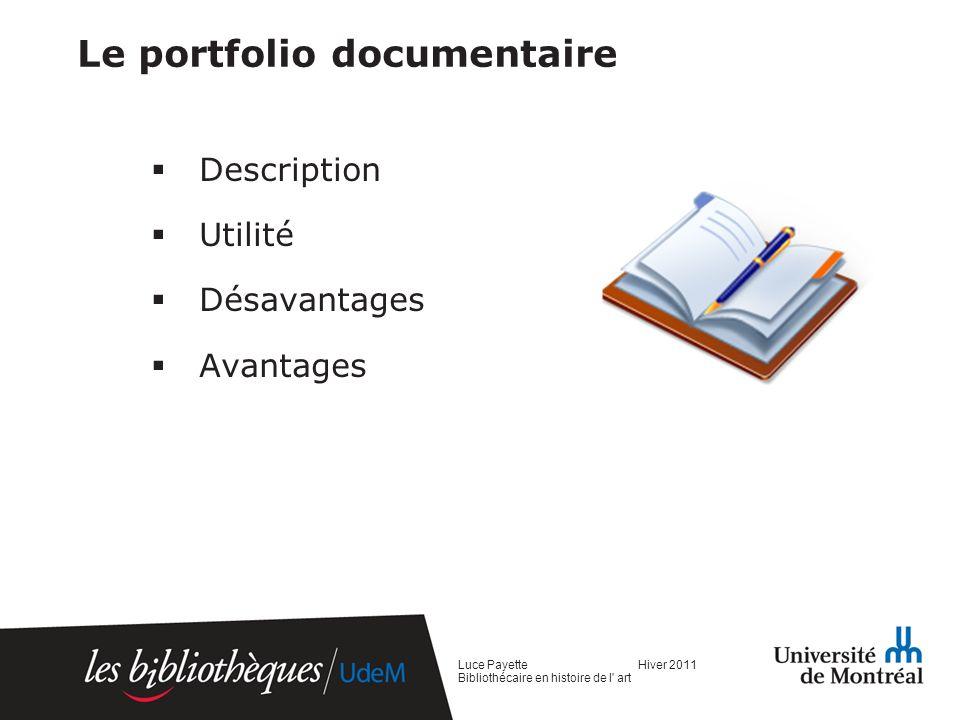 Le portfolio documentaire