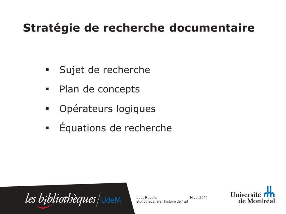 Stratégie de recherche documentaire
