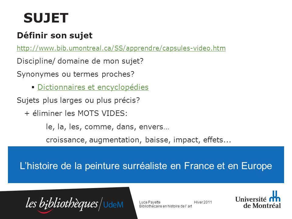 L'histoire de la peinture surréaliste en France et en Europe