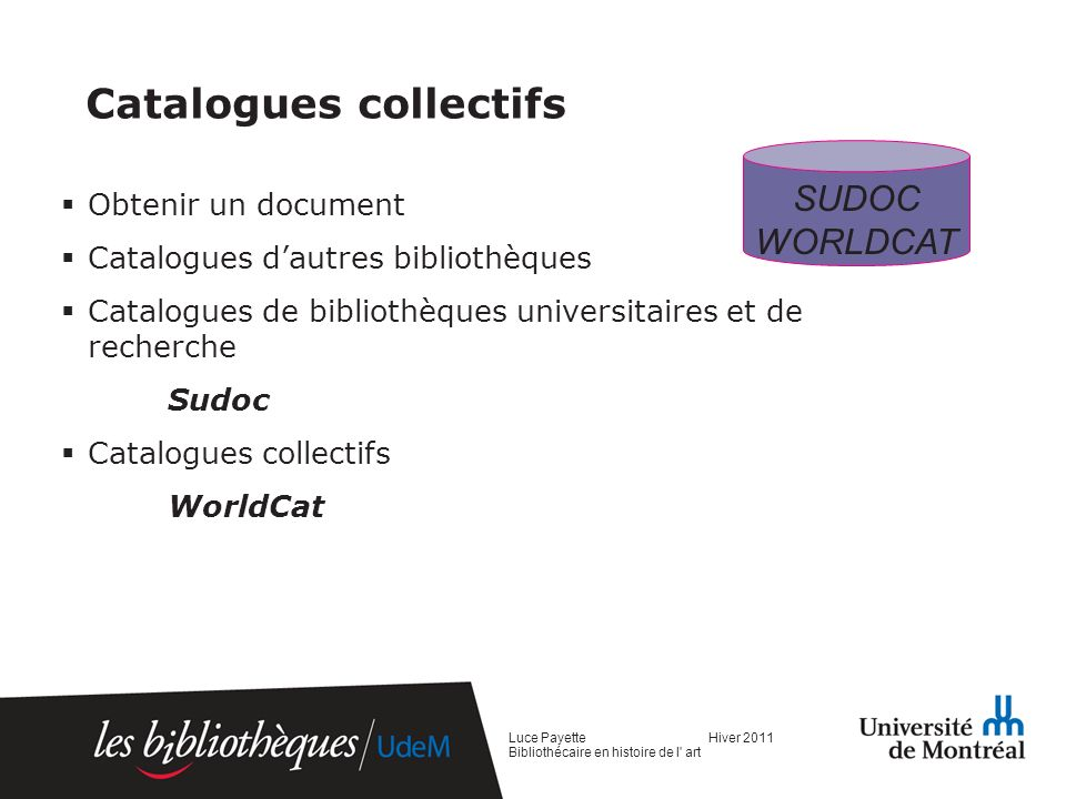 Catalogues collectifs