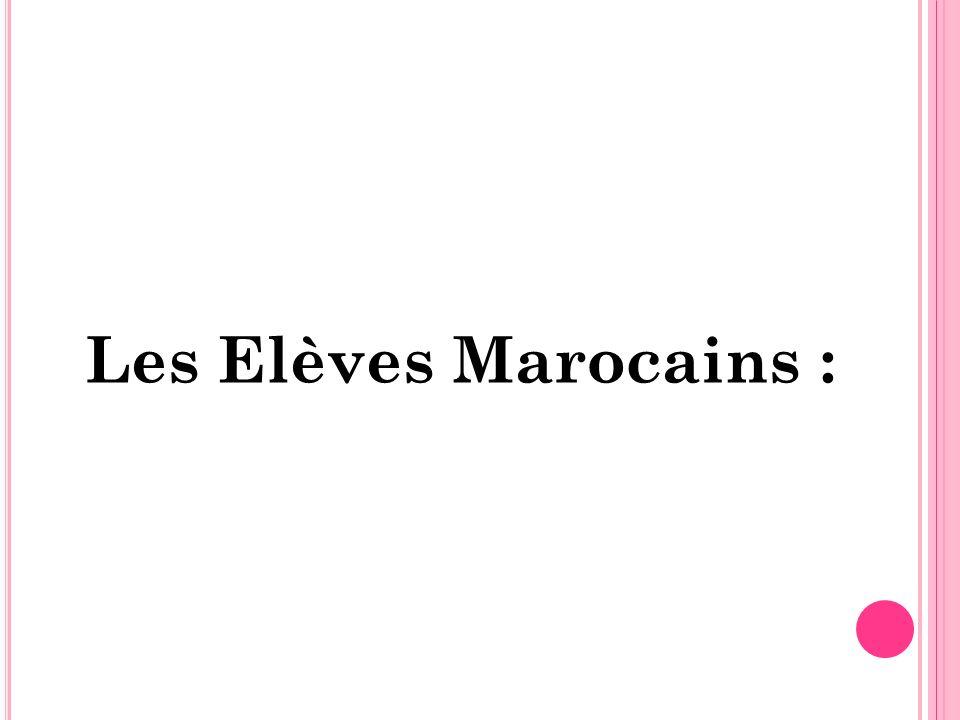 Les Elèves Marocains :